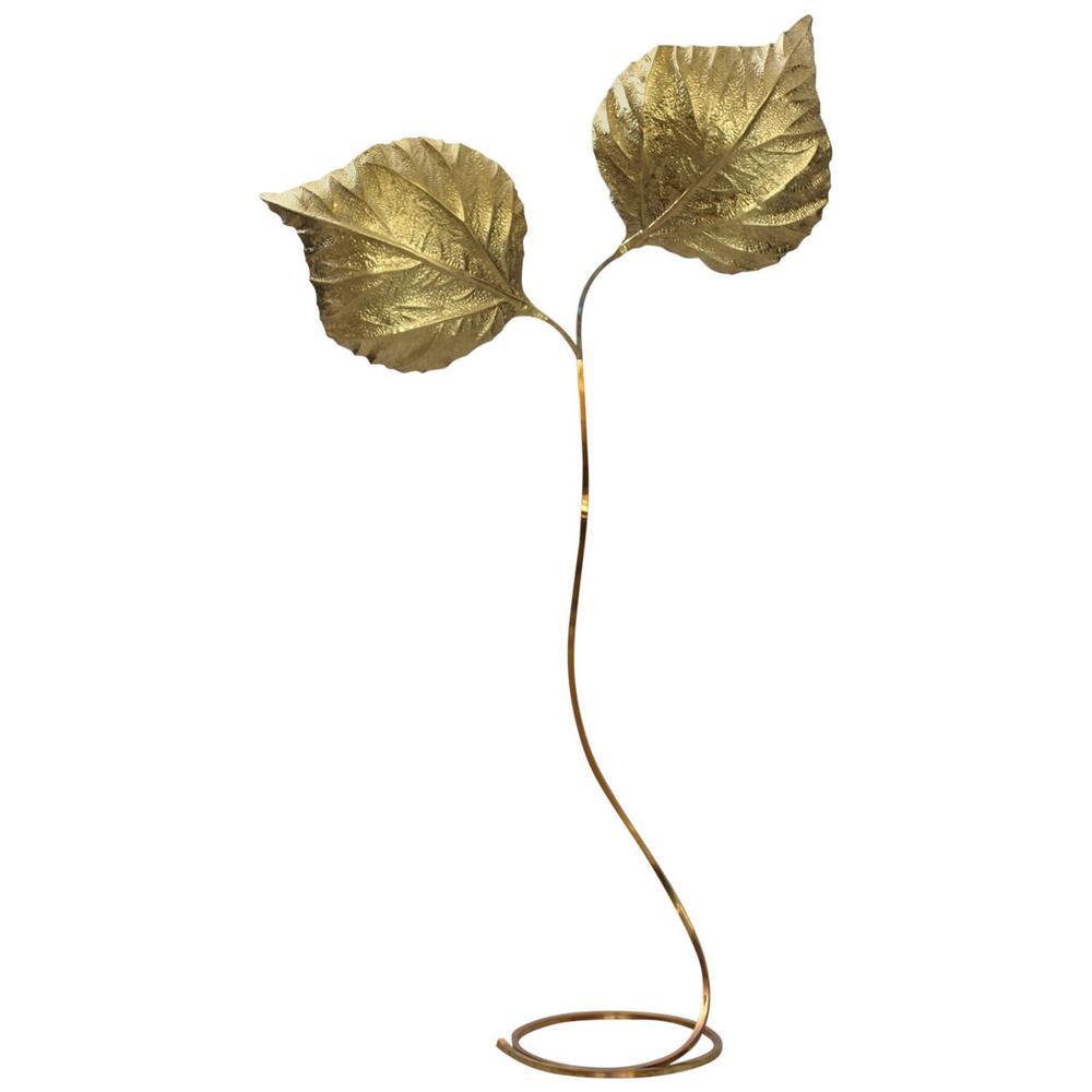 Raquel Copado Tommaso Barby Brass Floor Lamp Italy 1970